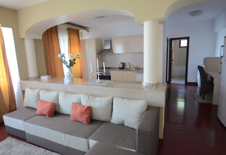 Divan Residence Apartments, Bucharest, Comfort Apartment, 2 Bedrooms, Accessible, Park View, Living Room