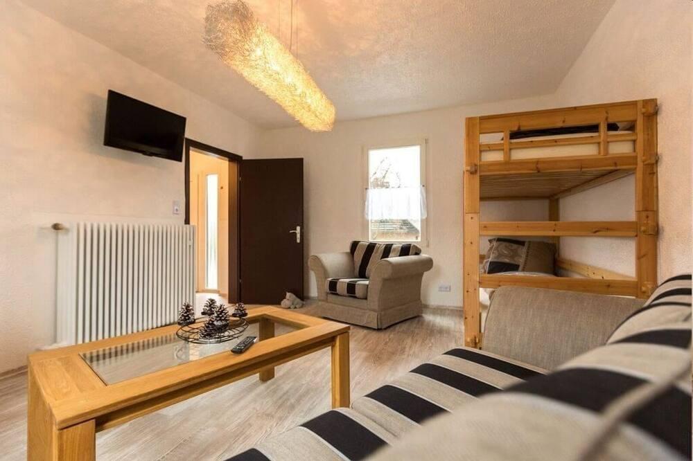 Tradicionāla kalnu mītne, trīs guļamistabas, nesmēķētājiem (incl. final cleaning fee 95 EUR) - Dzīvojamā zona