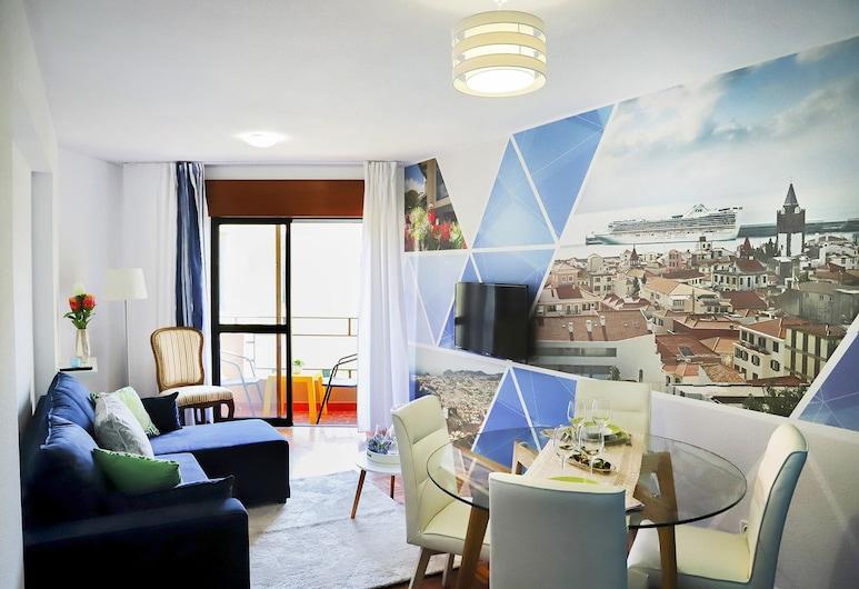 Funchal Downtown Apartment , Funchal, Lejlighed - 2 soveværelser - handicapvenligt - ikke-ryger, Opholdsområde