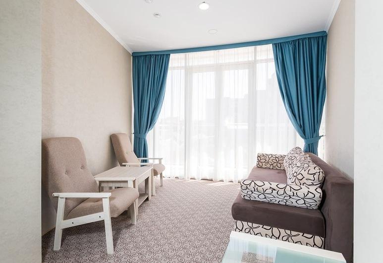 Hotel Congress Krasnodar, Krasnodar, Deluxe Double Room (panoramic view), Ruang Tamu