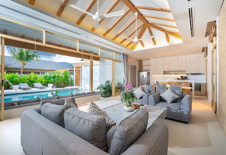 Himmapana Luxury Villas, Kamala, Villa Deluxe, Sala de estar
