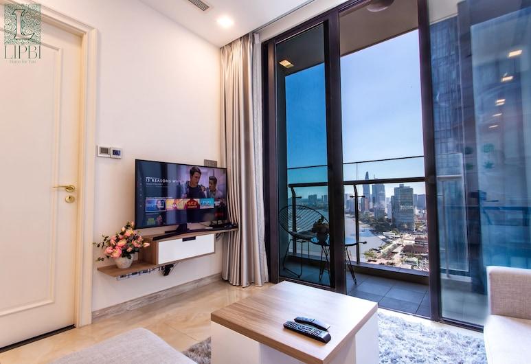 Lipbi Home-Central Luxury Apartment, Ho Chi Minh City, Central Luxury Condo , Vardagsrum