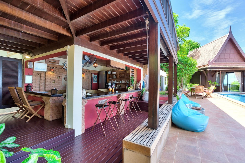 villa thai teak koh samui 5 bedrooms villa terracepatio - Thai Patio
