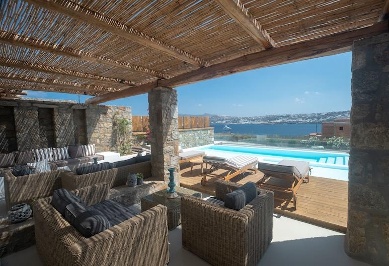 Amaris Mykonian Residence, Mykonos, Luxury-Bungalow, eigener Pool, Terrasse/Patio