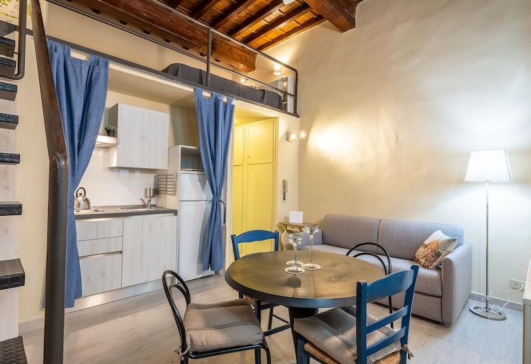 小皮蒂酒店, 佛羅倫斯, 舒適開放式客房, 1 張標準雙人床及 1 張梳化床, 非吸煙房, 客廳