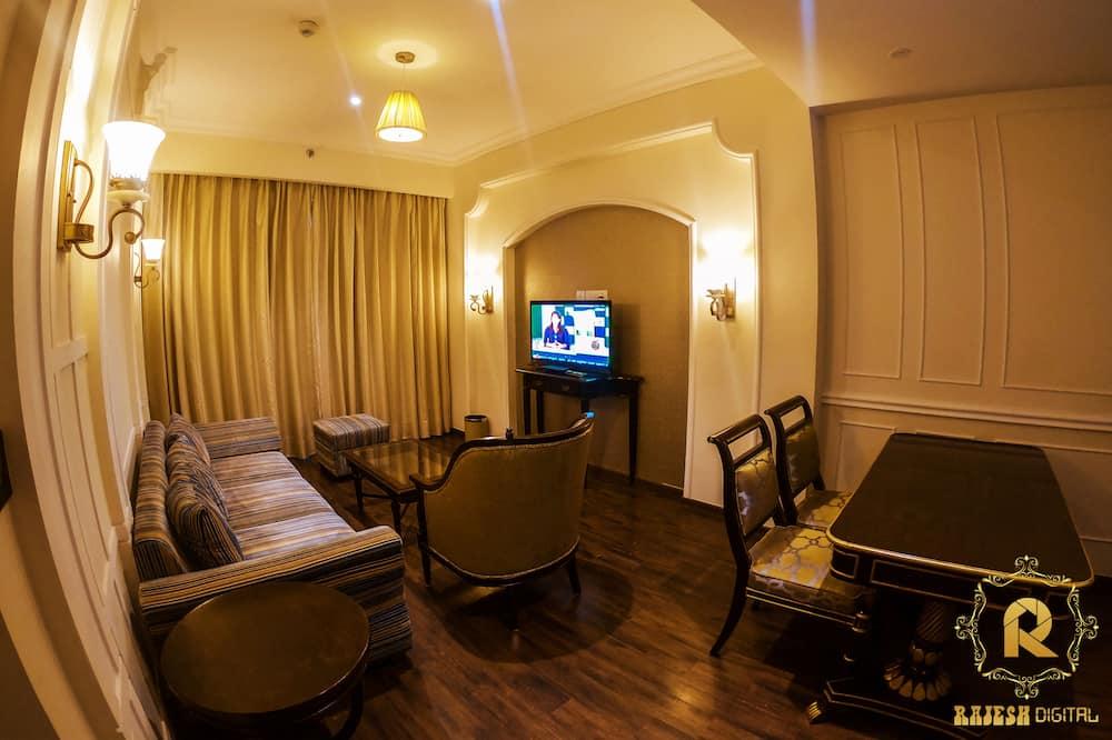 Basic-Suite, 1King-Bett, barrierefrei - Wohnbereich