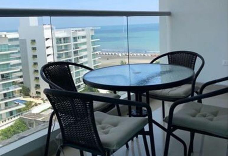 Apartamento de Lujo Frente al Mar, Kartachena, Apartamentai šeimai, Kelios lovos, Nerūkantiesiems, Terasa / vidinis kiemas