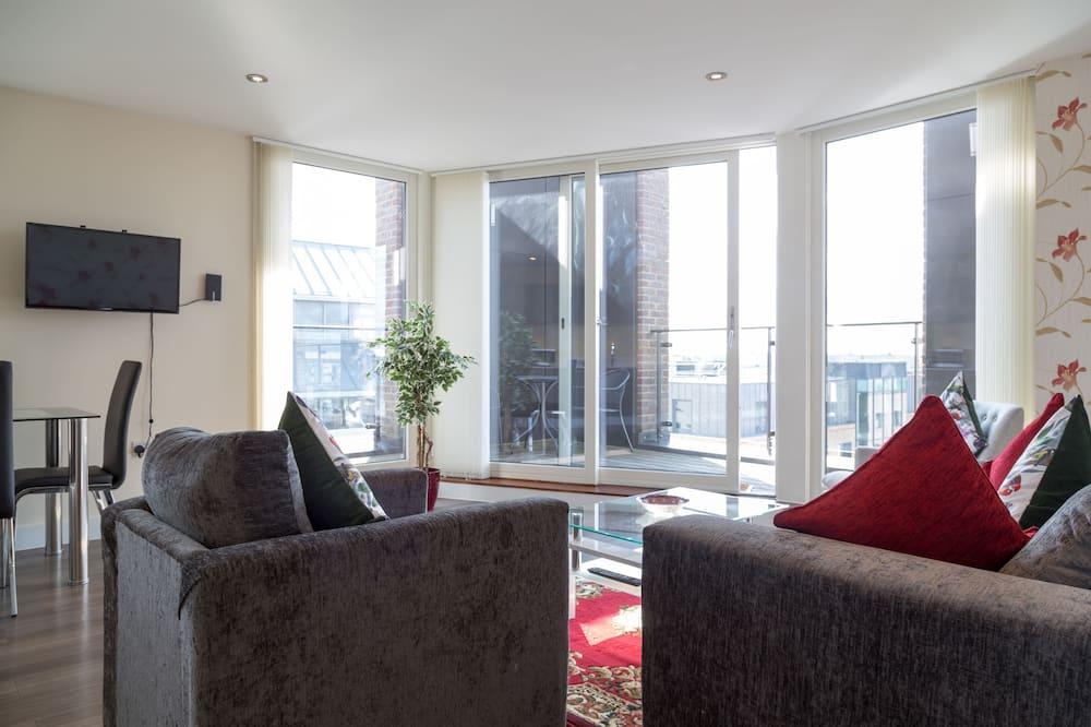 Luksusa dzīvokļnumurs, divas guļamistabas, nesmēķētājiem - Dzīvojamā istaba