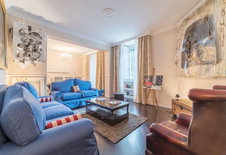 Mazzini Stylish Apartment, Rome, Apartment, 3 Bedrooms, Living Room