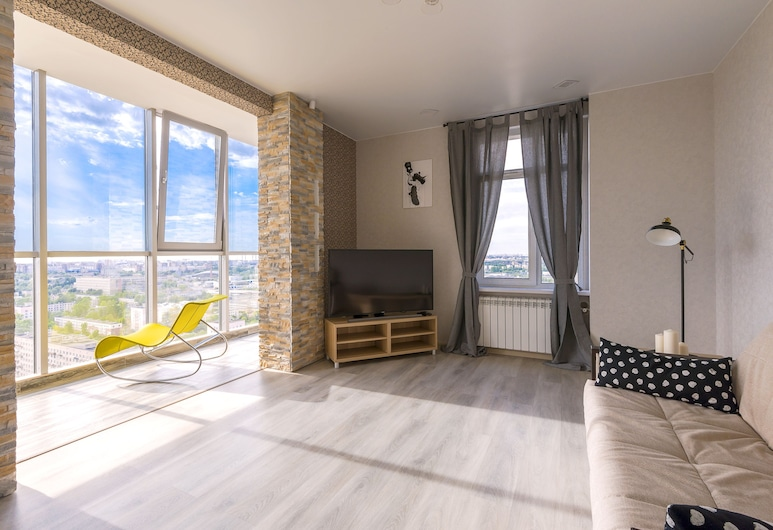View Apartment Leninsky prospect, St. Petersburg, Design Apartment, Non Smoking, Living Area