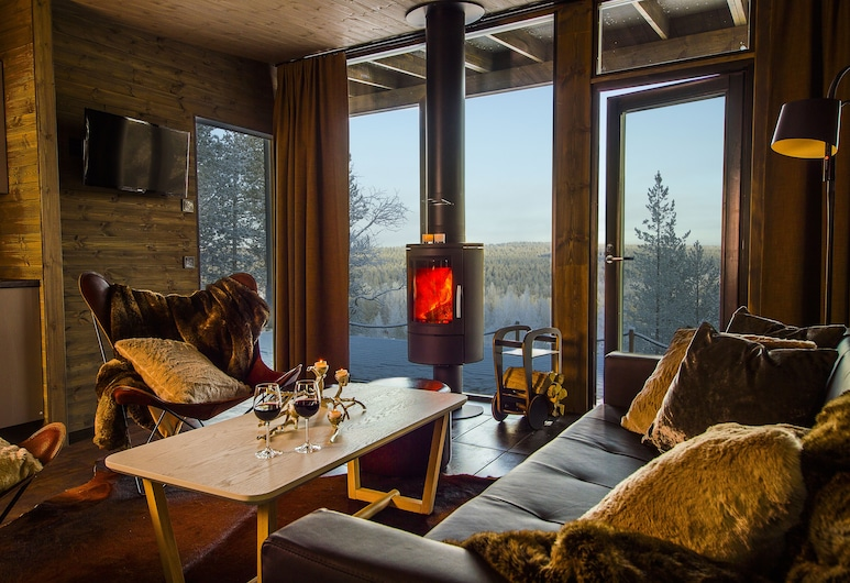Arctic TreeHouse Hotel, Rovaniemi, Arctic GlassHouse, Obývačka