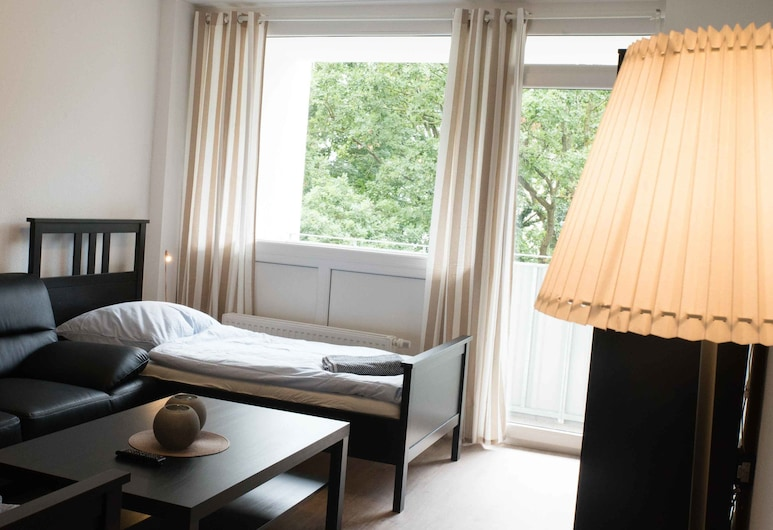 Ferienwohnung Potsdamer Strasse 44, Düsseldorf, Huoneisto, 2 makuuhuonetta (HR025-D12), Oleskelualue