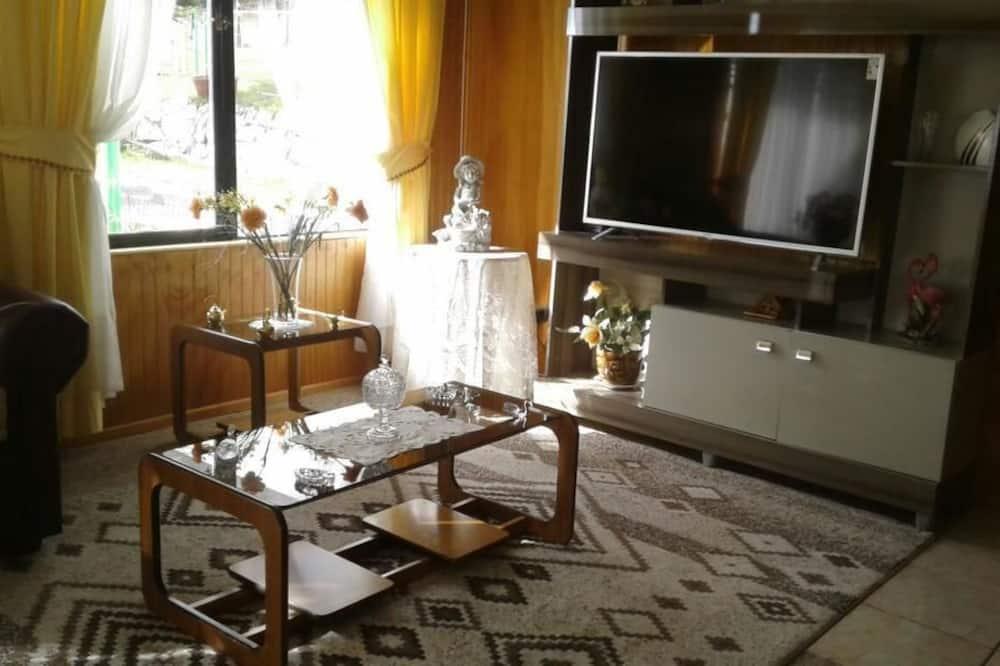 Familien-Ferienhütte, Mehrere Betten, Nichtraucher - Wohnbereich