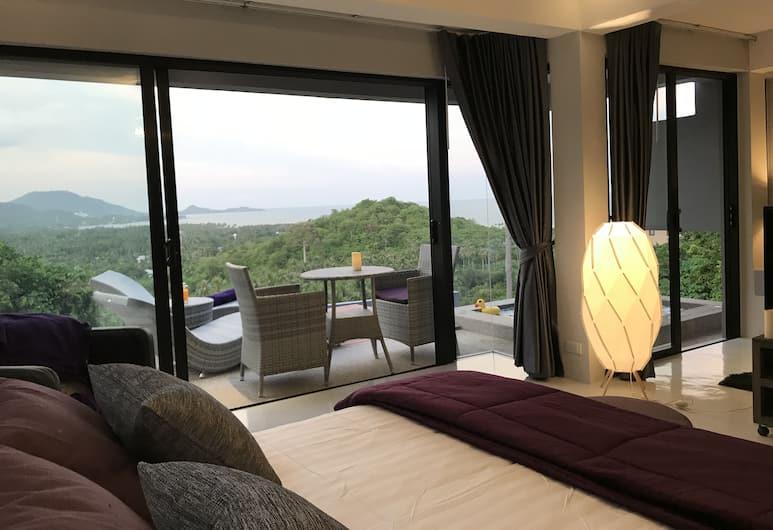 小天堂海景別墅飯店, 蘇梅島, 開放式套房, 按摩浴缸, 海景, 客房景觀