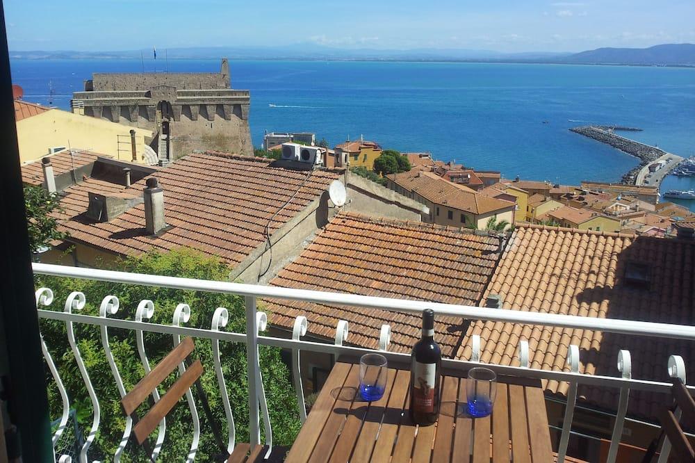 Maisonette, 1 Schlafzimmer, Nichtraucher, Terrasse - Blick vom Balkon