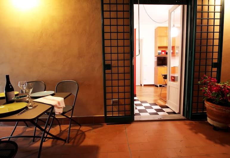 浪漫陽台酒店 - 近藝術區, 羅馬, 公寓, 1 間臥室, 露台, 陽台