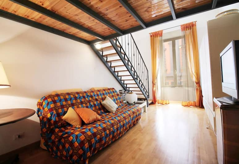 La Dolce Vita by Via Veneto 2BR Apt, Rome, Apartment, 2 Bedrooms, Living Area