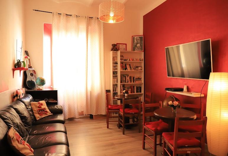Român Holidays Hostel, Rom, Wohnzimmer