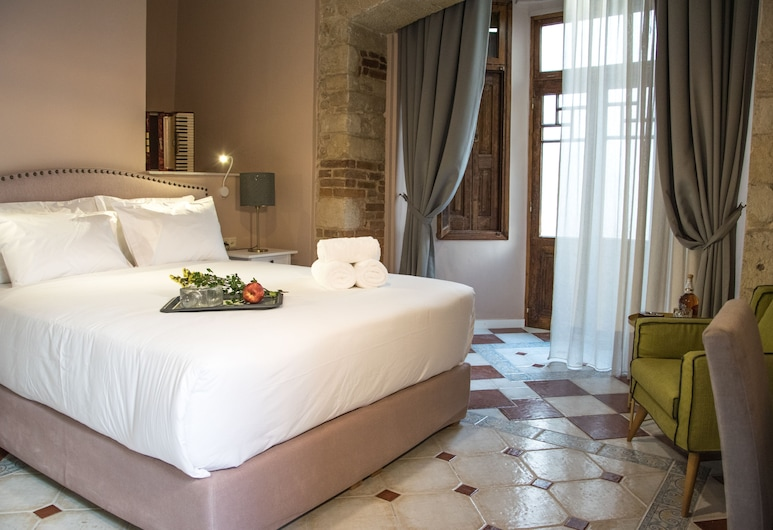 Porta Medina Boutique Hotel - Adults Only, Heraklion, Grand Double Room, Ground Floor, Guest Room