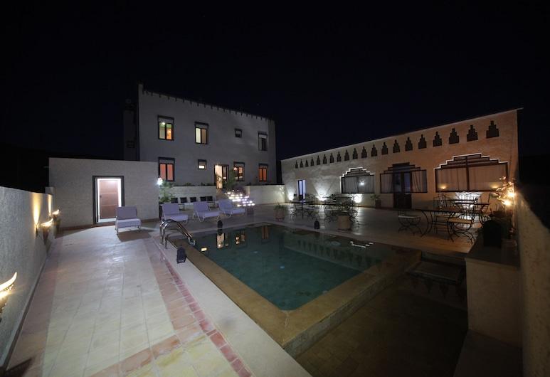 Ksar Sultan Dades, Boumalne Dades, Habitación doble, vista a la piscina, Vista de la habitación