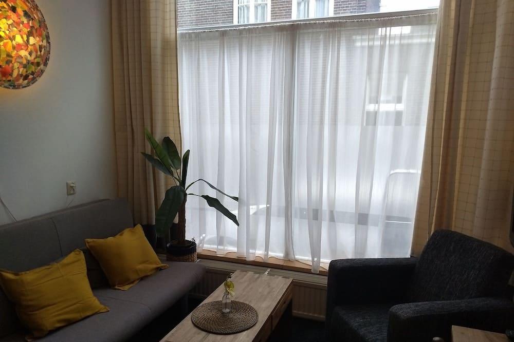 Standard-Vierbettzimmer, 1Queen-Bett und Schlafsofa (Bedsteekamer) - Wohnzimmer