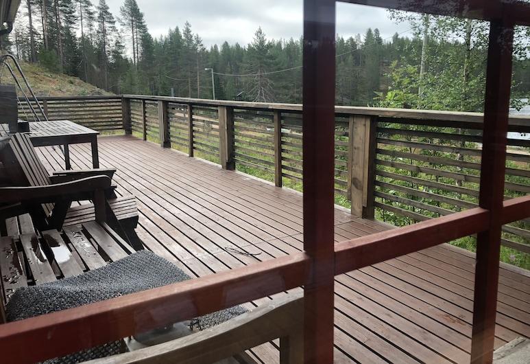 Ruska-Lodge, Pudasjärvi, Chalé, 2 Quartos, Sauna, Vista do quarto