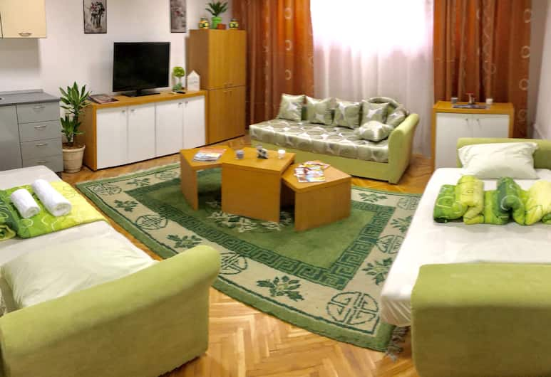 Wood Suites Belgrade, Belgrad, Economy-Doppelzimmer, Gemeinschaftsbad, Wohnbereich