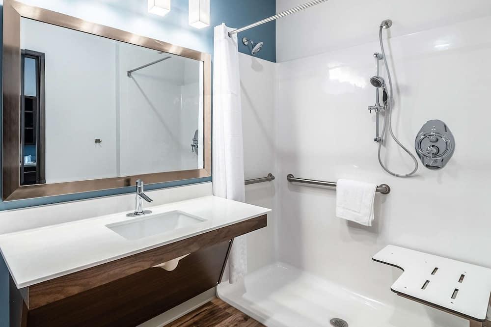 Huone, 1 keskisuuri parisänky, Esteetön, Tupakointi kielletty - Kylpyhuone