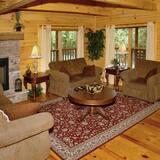 Huisje, 3 slaapkamers, bubbelbad, uitzicht - Woonkamer