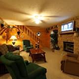 Cabaña, 2 habitaciones, chimenea, con vista - Sala de estar