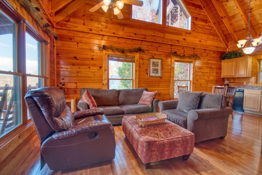 Cabin, Nhiều giường, Bồn tắm nước nóng, Quang cảnh núi - Phòng khách