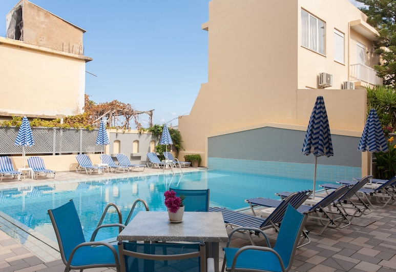 Melitti Hotel, Rethymno, מרפסת/פטיו