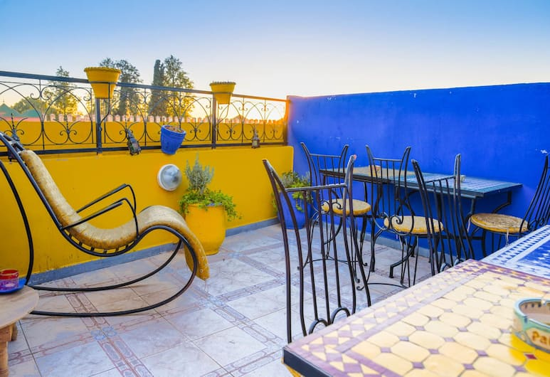 Peace Hostel - Adults Only, Marrakech, Dobbeltrom, Terrasse/veranda