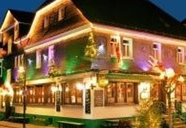 Hotel Stoffels, Schmallenberg, Fachada del hotel de noche
