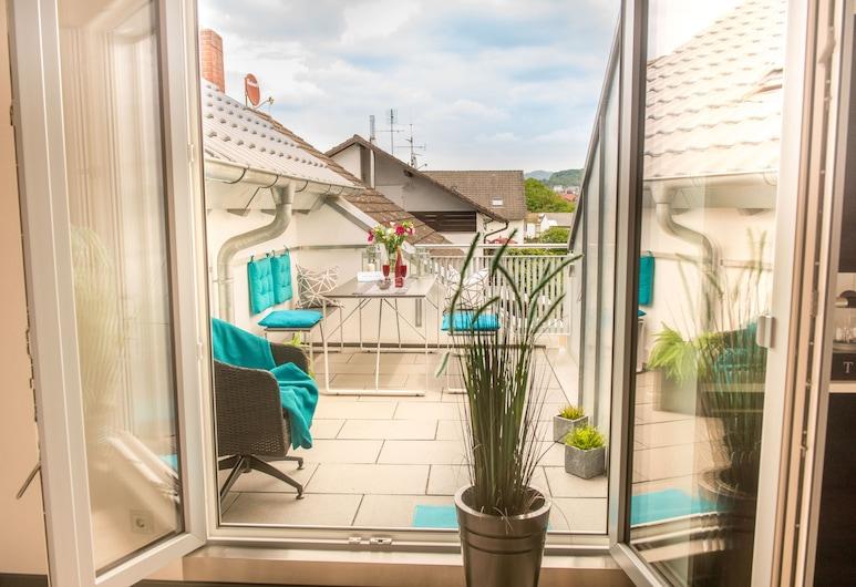 Boutique & Luxury-Apartments Horster, Бенсгайм, Апартаменти «Делюкс» (Dach-Loft), Балкон