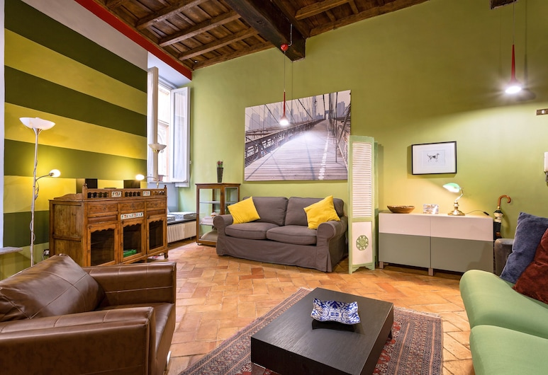 Rome as you feel - Vicolo delle Grotte, Rome, Apartment, 1 Bedroom, Living Area