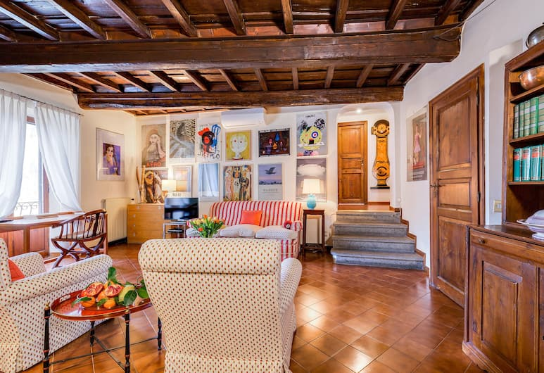 Rome as you feel - Cappellari 35, Rome, Appartement, 2 slaapkamers, Woonkamer
