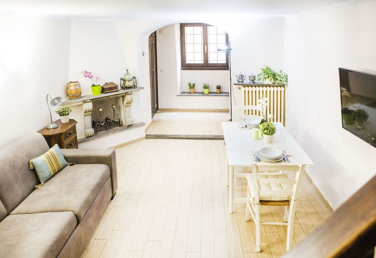 Art Apartment Rustici, Florence, Apartment, 1 Bedroom, Living Room