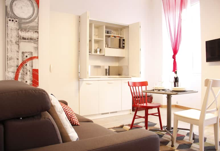 Art Apartment Scala, Florencia, Štúdio, 1 spálňa, Obývacie priestory