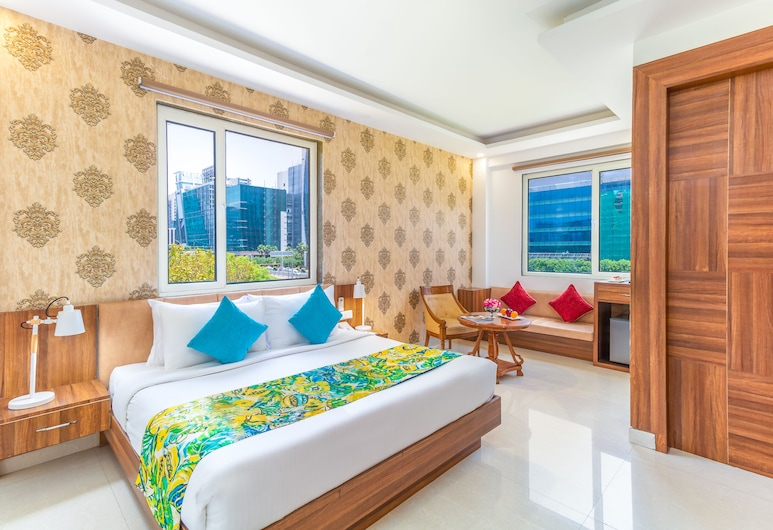Inde Hotel Cyber City , Gurugram, Deluxe Room, 1 Double Bed, Private Bathroom, City View, Guest Room