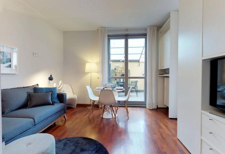 디자인 아파트먼트 니어 두오모 스퀘어, 밀라노, 아파트, 침실 1개, 거실 공간