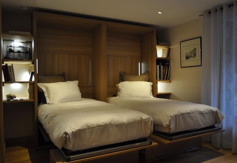 شاليه لا كاشيت سايكليست إيه سكييه, Le Bourg-d'Oisans, شقة مميزة - بحمام خاص - منظر للجبل (4 étoiles Atout France), الغرفة