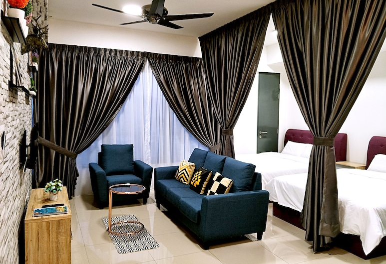 10Pax Nordic Suite at George Town Penang, George Town, Apartment, 2 Bedrooms, Non Smoking, Living Room