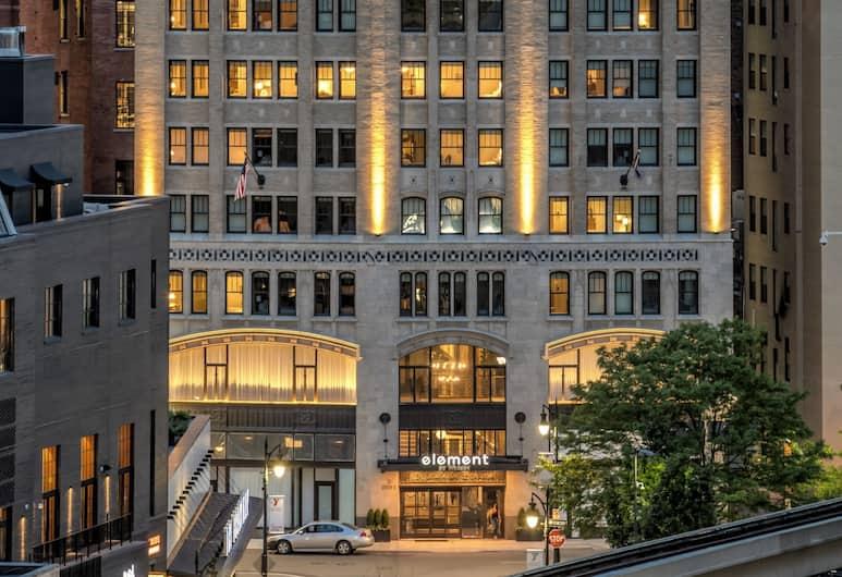 Element Detroit at the Metropolitan, Detroit, Fasaden på overnattingsstedet – kveld