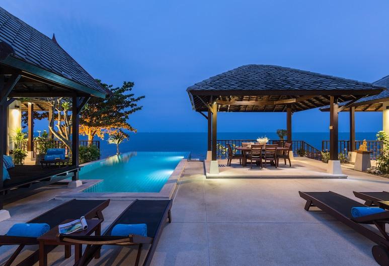 海灘別墅酒店, 蘇梅島, Four Bedroom Private Pool Villa, 陽台