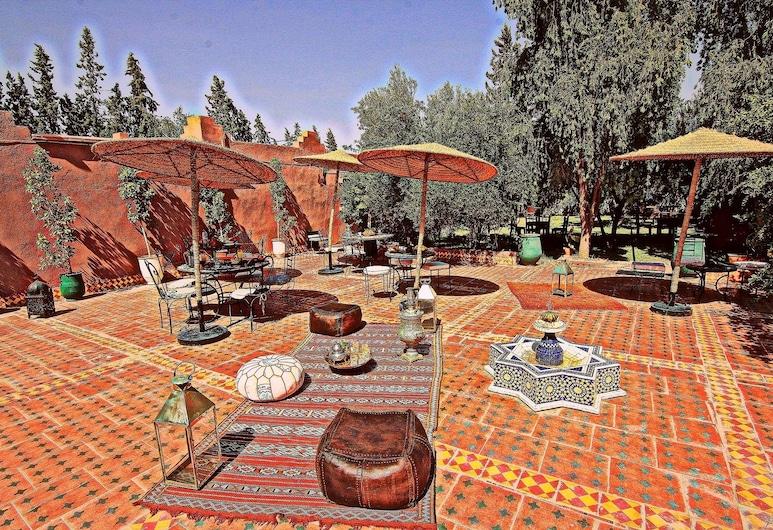 팜 오베르주, Marrakech, 야외 다이닝