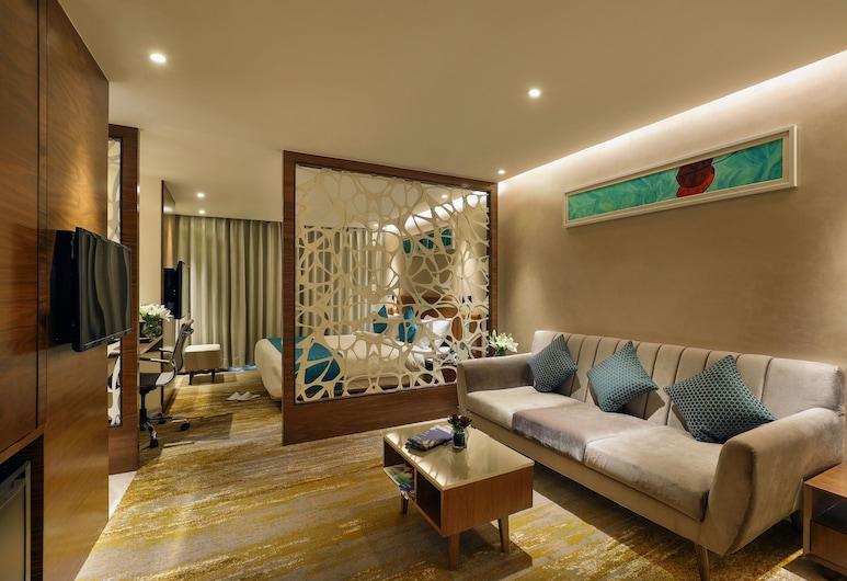 Effotel By Sayaji Vadodara, Vadodara, Deluxe-Zimmer, 1King-Bett, Nichtraucher, Ausblick vom Zimmer
