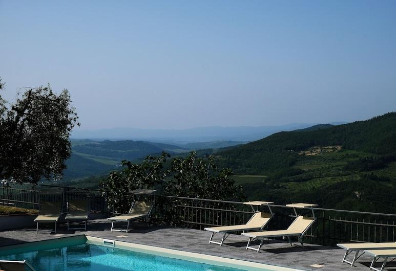 Villa Casalta, Pontassieve, Zwembad op dak