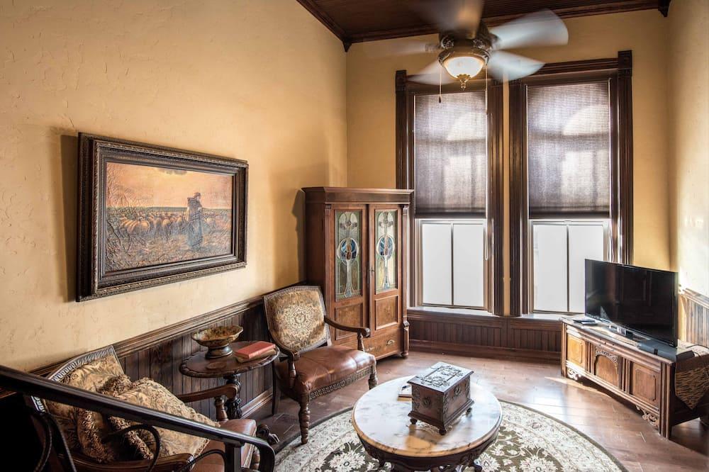 精緻套房, 獨立浴室, 城市景觀 (Renaissance Revival Suite) - 客廳