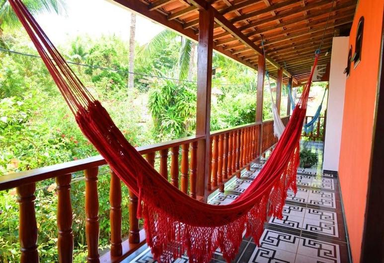 Pousada Ilha de Boipeba, איליה דה בואיפבה, חדר סטנדרט זוגי, מיטה זוגית, ללא עישון, מרפסת